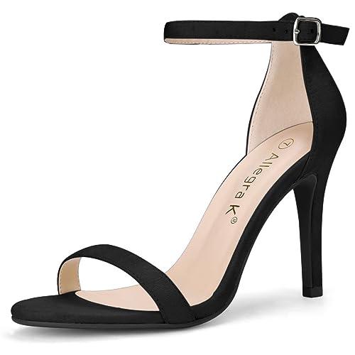 ee6d865b8e50 Allegra K Women s Stiletto High Heels Ankle Strap Sandals