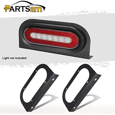 Abrams 4 Round Tail Light L Shape Mounting Bracket for 4 Inch Grommet//Flush Mount Round Truck Trailer RV Taillight Lights Black Powder Coated Steel Vertical or Horizontal Mounting