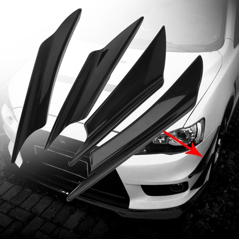 Water transfer carbon pattern Front Bumper Spoiler Front Bumper Lip Splitter 4pcs Universal Car Body Spoiler Front Bumper Lip Splitter Fins Trim