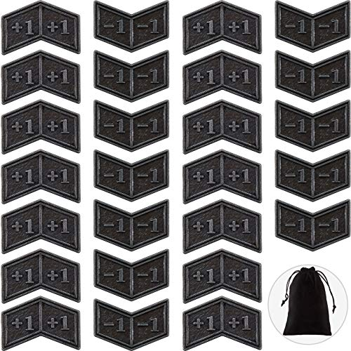 40 Pieces Metal Counters Magic Counter Tokens Silver Metal Tokens Compatible with MTG Card Game Accessory