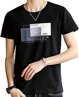 JHIJSC Tシャツ メンズ 半袖 長袖 無地 綿 春 秋 冬 ゆったり プリント おしゃれ おおきいサイズ