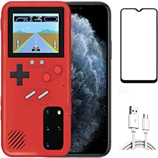 Homi2019 Game Case for Samsung Galaxy Note 10+ (Plus), Retro 3D Protective Cover Case with 36 Small Game, Full Color Displ...