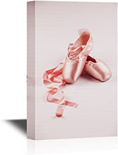 wall26 - Canvas Wall Art - The Shoes of Ballet Dancers - Gallery Wrap Modern Home Decor   Ready to Hang - 12x18 inches