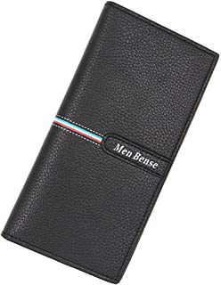BeniNew men's long wallet multi-function large capacity wallet-black