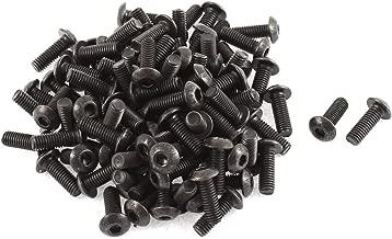 uxcell M5x14mm 10.9 Alloy Steel Button Head Hex Socket Cap Screw Bolt 100pcs