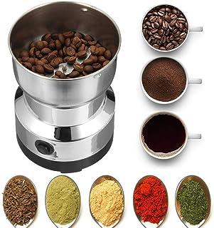 Kaffekvarn, elektrisk bönkvarn, 200 W elektrisk kaffekvarn bönor krydda och mutterkvarn mixer rostfritt stål för hemmakontor