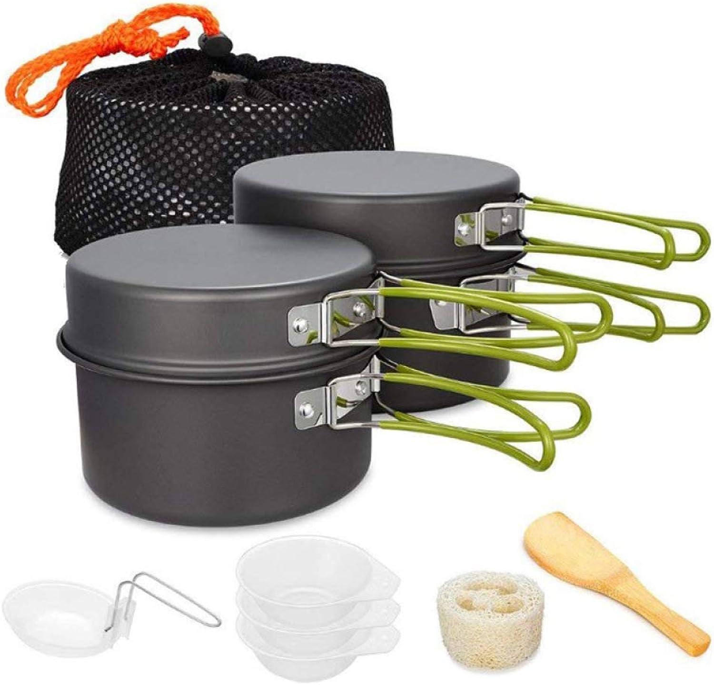 Camping Cookware, 23 People Outdoor Set Pot Portable Aluminum Cookware Set Picnic Barbecue Pot