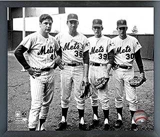 Tom Seaver, Jerry Koosman, Gary Gentry, Nolan Ryan New York Mets Photo (Size: 12