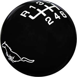 Speed Dawg SK501RP-FW-6RUL Black/White Ford Mustang Running Pony Shift Knob with 6 Speed Pattern for 2005-2014 Mustang GT