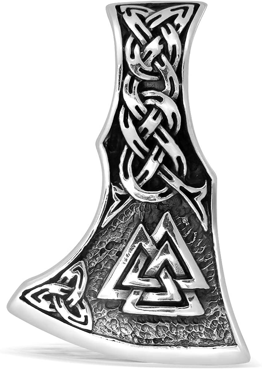 WithLoveSilver 925 Sterling Silver Viking Weekly Manufacturer direct delivery update Celt Amulet Slavic Axe
