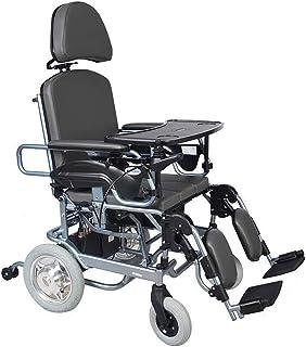 De peso ligero plegable sillas de ruedas eléctrica Sillas de ruedas eléctrica, controlada dual-Silla de ruedas eléctrica de la batería de litio for los ancianos discapacitados viaje Vespa de motor sin
