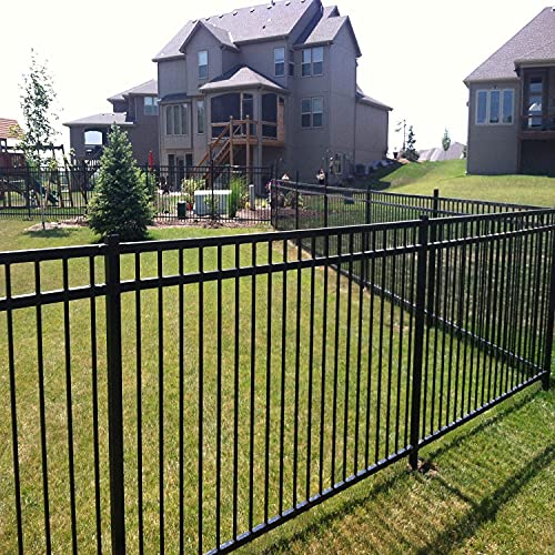 XCEL - Black Steel Fence Panel Style Easy Installation Fence...