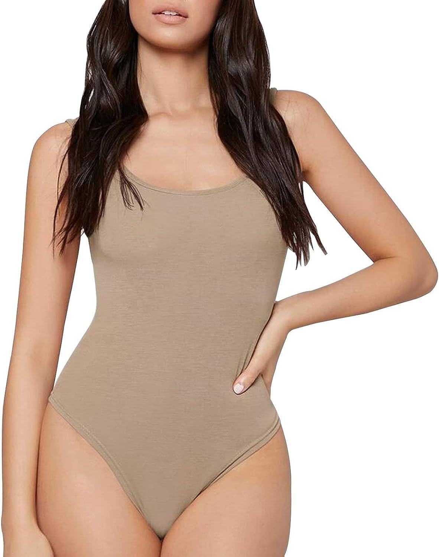 Substantial Scoop Neck Tank Bodysuit, Women Bodysuits