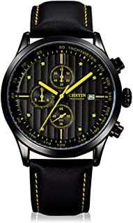 OCHSTIN 2016 Top Brand Luxury Genuine Leather Quartz Casual Men's Wristwatch 30M Water-resistant Stopwatch Sports Watch fo...