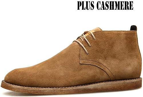 TK-chaussures Bottes Martin Bottes en Cuir pour Hommes Hommes Bottes d'outillage Bottes Angleterre Rétro Chelsea Bottes du Désert  à vendre en ligne