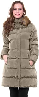 Women's Winter Long Puffer Coat Thicken Outerwear Cotton Parkas Outdoor Jacket with Fur Trim Removable Hood