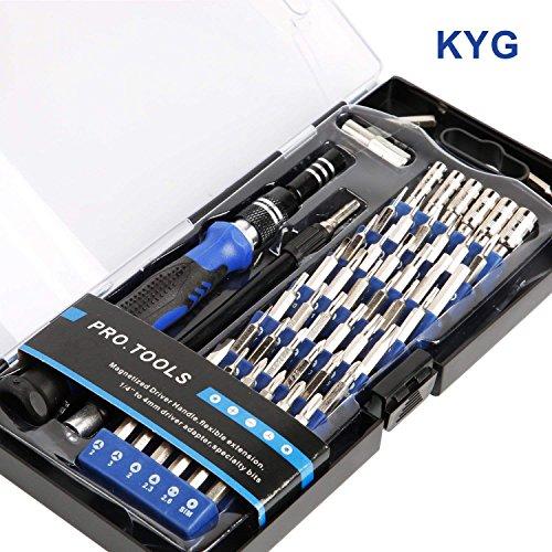 KYG Juego de Destornilladores Profesional con 56 Puntas Magnética Kit de Herramientas de Reparación para Reparar Smartphone Laptops Xbox Cámara Reloj Gafas
