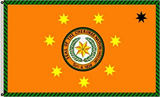 Fyon Native American Tribal Banner The Cherokee Nation Flag 3x5ft