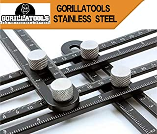 GORILLATOOLS | Multi-Angle Ruler | Stainless Steel Angleizer Template Tool | Multi-Function Universal Layout Finder and Measuring Ruler | Including Tool Pouch and Instructions manual via Email |
