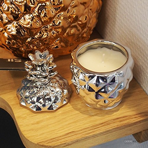 Silver Pineapple Shaped Candle Pot Fresh Cotton Fragrance
