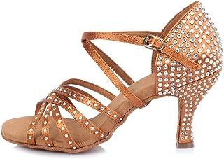 Women's Satin Latin Dance Shoes Ballroom Performance Shoes,Model YCL380