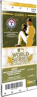 MLB Texas Rangers 2011 World Series Mega Ticket
