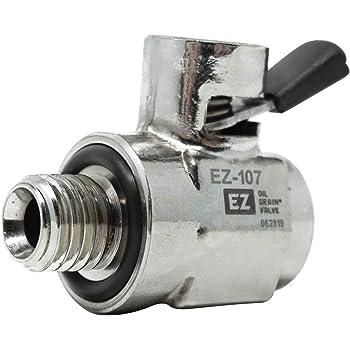 EZ (EZ-107) Silver 12mm-1.75 Thread Size Oil Drain Valve