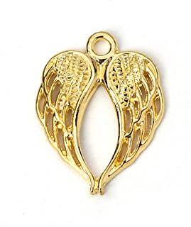 Angel Wings Charms by JGFinds, 48 Pack, Gold Tone 7/8 inch