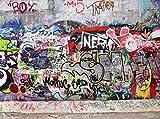 wandmotiv24 Carta da parati Graffiti 3 Größe: 350 x 260 cm Carta da parati a motivi, carta da parati a motivi, carta da parati in vinile KTk27