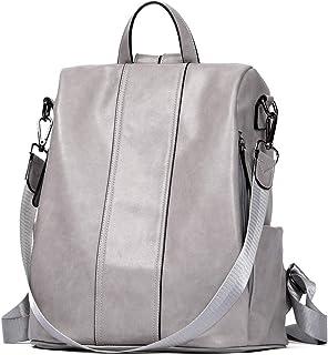 Damen Rucksack Anti Diebstahl Rucksack Wasserdicht Lederrucksack Rucksackhandtasche Schultertasche für Arbeit Reisen Schul...