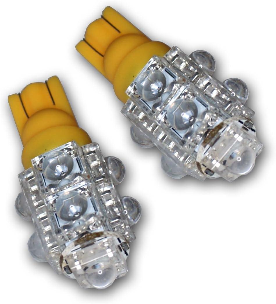 Memphis Mall TuningPros LEDFSM-T10-Y9 shop Front Side Marker LED W Light Bulbs T10