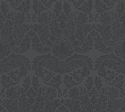 Metropolis by Michalsky Living Vliestapete Soho Tapete neo barock 10,05 m x 0,53 m metallic schwarz Made in Germany 303965 30396-5