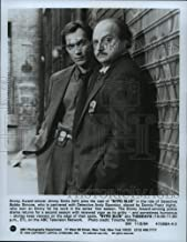 Historic Images - 1994 Press Photo Jimmy Smits and Dennis Franz on NYPD Blue, on ABC.