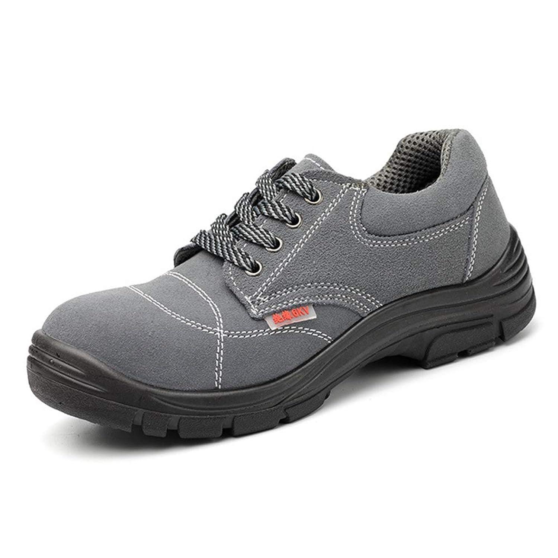 [Florai-JP] スニーカー メンズ セーフティーシューズ 安全靴 作業靴 スエード レースアップシューズ ローカット つまさき保護 先芯入り 耐滑 耐油 耐酸 絶縁 刺す叩く防止 快適 耐磨耗 衝撃吸収 おしゃれ