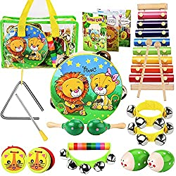 OATHX Kids Musical Percussion Instruments Set - Top 10 Best Baby Musical Instrument Sets