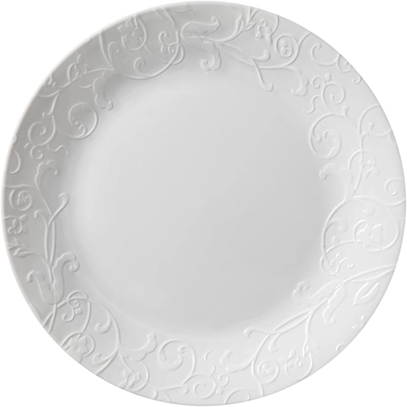 Corelle Embossed Bella Faenza 10 25 Dinner Plate Set Of 8