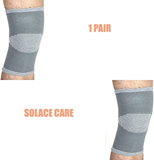 1 Pair Elastic knitted Knee Support Strap Protection Sport Running Injury Sprain