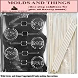 I'M 2 Lolly numbers and letters Chocolate candy mold Molding Instruction+ 25 Lollipop sticks