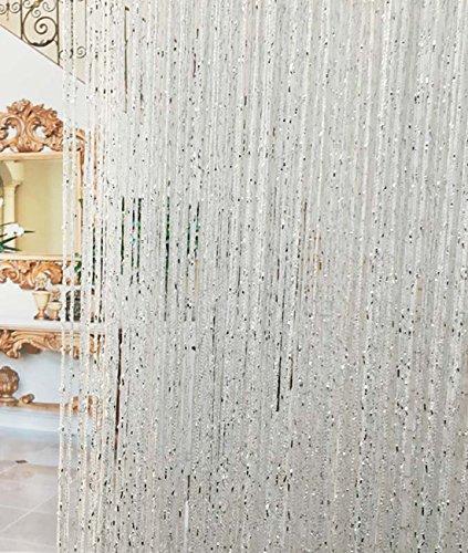 FUT_Forever Curtain String Door Window Room Decorative Panel Divider Cute Glitter Crystal Ball String Tassel Silk Crystal Beads Curtain