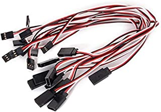 HONBAY 10Pcs 300mm Remote Control Servo Extension Cord Cable Male to Female Servo Extension Lead Wire Cable for RC JR Futaba RC Car or Airplanes