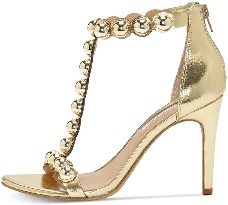 INC International Concepts Womens Raechelle Fabric Open Toe, gold, Size 7.0