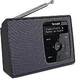TechniSat DIGITRADIO 2 - Tragbares DAB+/UKW-Radio mit Akku (mit Bluetooth Audiostreaming, Weckfunktion, OLED Display, Kopfhöreranschluss, Lautsprecher 1 W RMS) schwarz/silber
