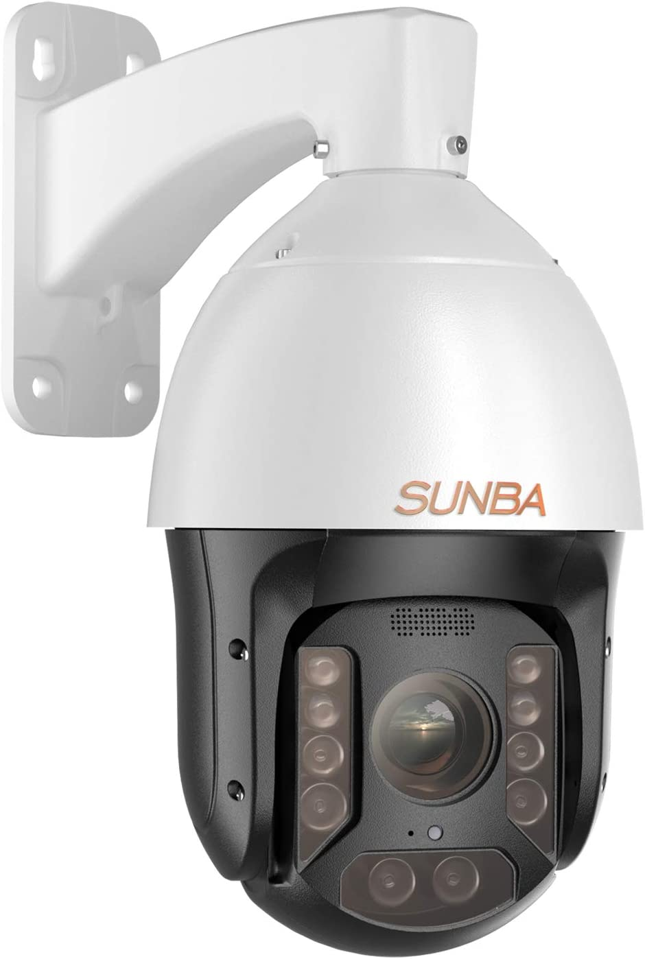SUNBA PoE+ PTZ IP Camera Outdoor, 25X Optical Zoom 1080p@60fps High Speed Dome Security Camera, Two-Way Audio and Long Range Infrared Night Vision up to 1000ft (P625, Performance Series)
