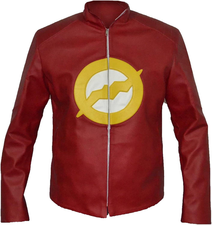 fd27fda1 MSHC MSHC MSHC Men's Dc Comic Flash Faux Leather Jacket a78169 ...