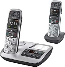 $139 » Gigaset E560A Duo – Premium Big Button Phone for Seniors, Practical SOS-Function, Cordless Phone with Answering Machine, 2...