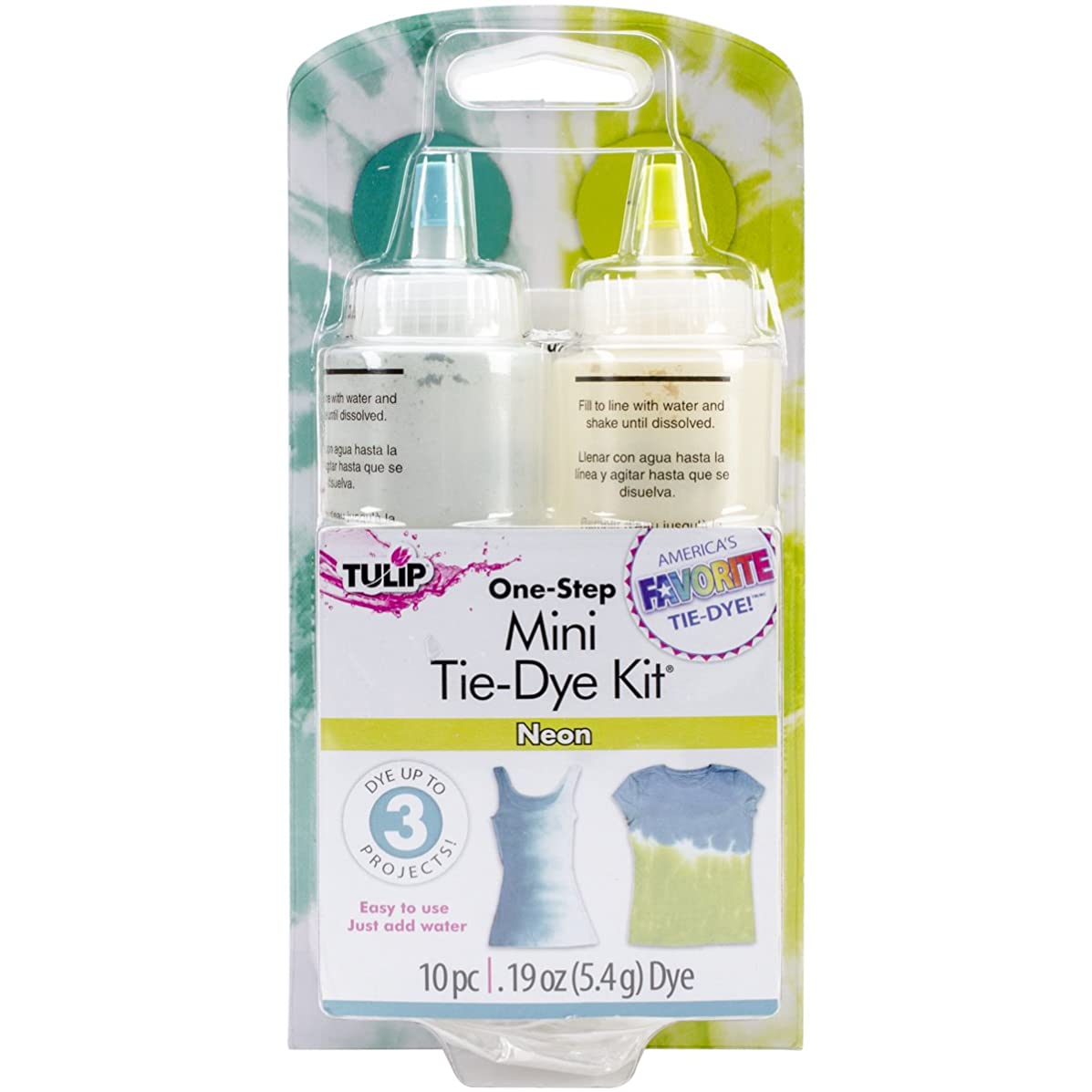 Tulip One-Step Tie Dye Kit, Mini, Neon, 2-Pack