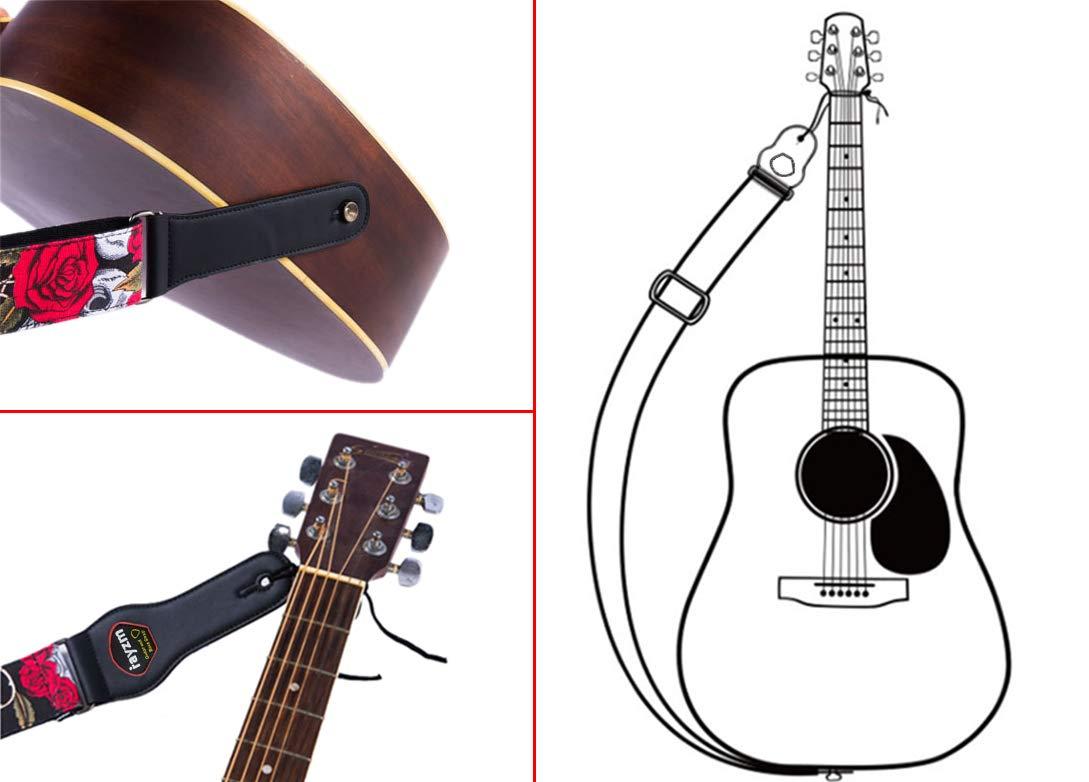 Rayzm correa para guitarra eléctrica/acústica y bajo con bolsillo ...
