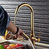 Lpophy Rubinetto Cucina Bagno Lavabo Rubinetto Rubinetto Del Bacino Miscelatore Da Cucina Per Bagno/Cucina/Lavandino Elastico In Oro Pieno Estensibile In Rame