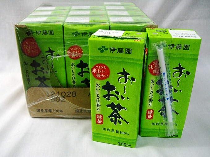 Amazon | 伊藤園 お~いお茶 緑茶 250ml紙パック 12本 | 伊藤園 | お茶飲料 通販