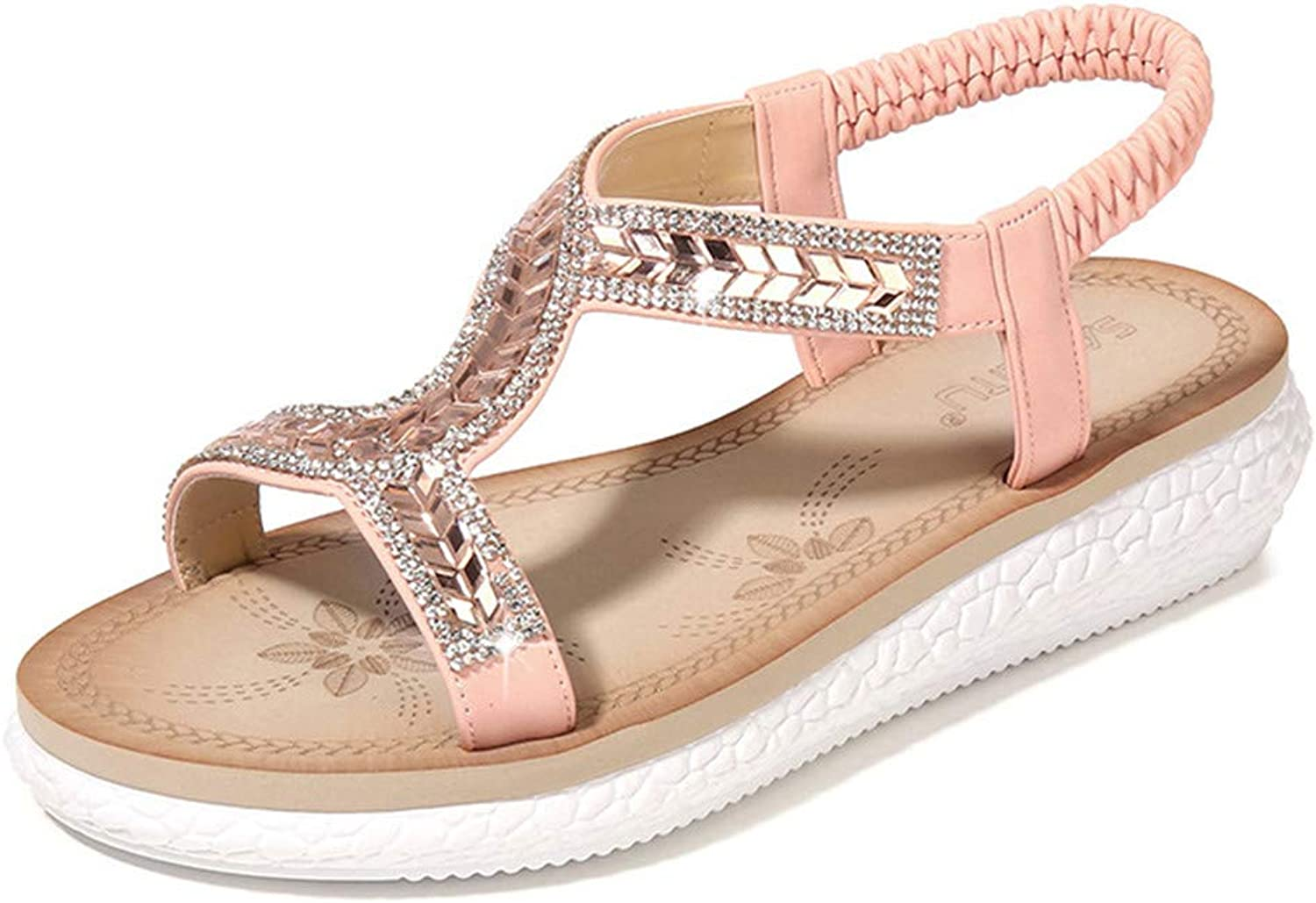 Women Roman Style Sandals Gladiator Ankle Strap Espadrilles Side Summer Flats shoes